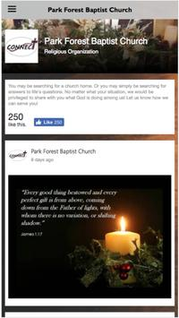 Park Forest Baptist Church apk screenshot