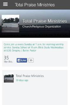 Total Praise Ministries screenshot 2