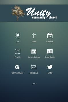 Unity Community Church poster