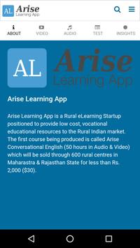 Arise Learning poster