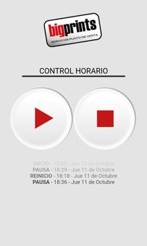 Bigprints Control horario poster