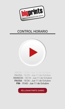 Bigprints Control horario apk screenshot