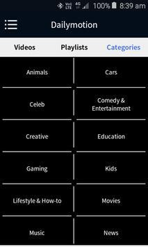 Video Player for Dailymotion apk screenshot