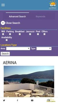 Rooms in Sifnos apk screenshot