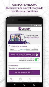 POP&VROOM ligne de covoiturage poster