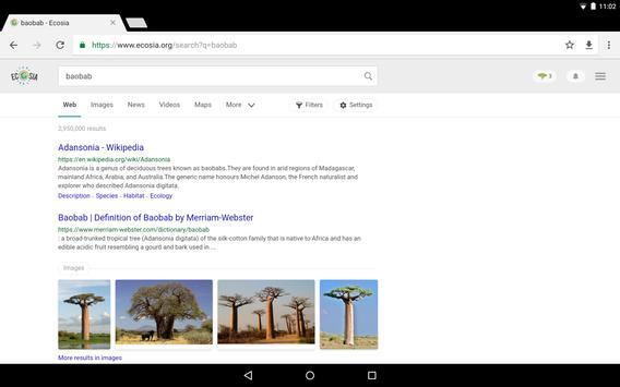 Ecosia Browser - Fast & Green скриншот приложения