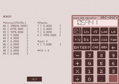 Simple RPN Calculator SRC-30CV poster