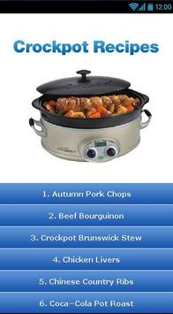 Crockpot Recipes ! poster