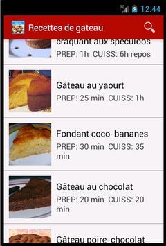 Recettes De Gâteau screenshot 1