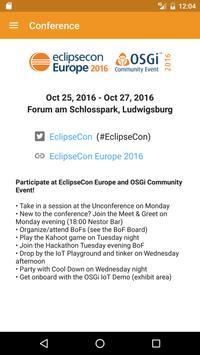 EclipseCon Europe apk screenshot
