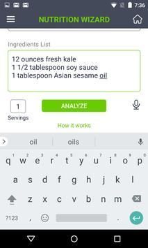 Nutrition Wizard apk screenshot