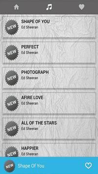 Ed Sheeran Music With Lyrics poster
