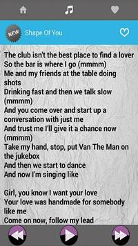 Ed Sheeran Music With Lyrics apk screenshot