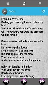 Ed Sheeran Music With Lyrics screenshot 2