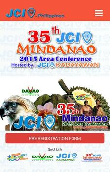 JCI Area Conference Mindanao poster
