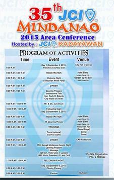 JCI Area Conference Mindanao apk screenshot