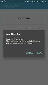 Notification filter Spamfilter スクリーンショット 1