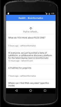 Bioinformatics RSS apk screenshot