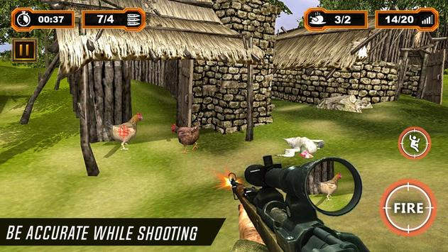 Chicken Shooter: Chicken Scream Hunting Tough Game poster