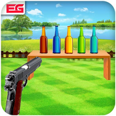 Bottle Shooting Game 3D Sniper icon
