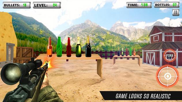 Bottle Shooting Game 3D Sniper poster