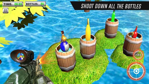 Bottle Shooting Game 3D Sniper screenshot 1