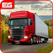 欧元 卡车 模拟器 自由: 货物 卡车 司机 游戏 图标