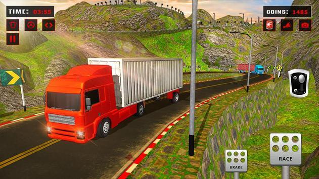 欧元 卡车 模拟器 自由: 货物 卡车 司机 游戏 海报