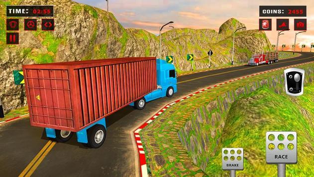 欧元 卡车 模拟器 自由: 货物 卡车 司机 游戏 截图 2