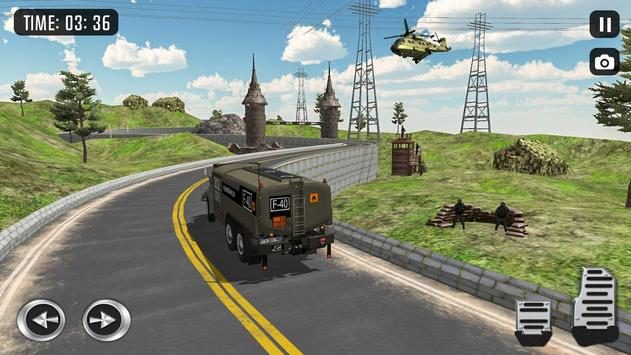 Off Road Army Truck Driving Game poster