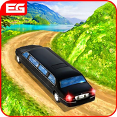Limousine Car Taxi Offroad Parking Simulator 2018 icon