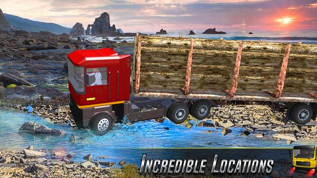 Future Cargo Loaded Truck Driver Logging Simulator poster