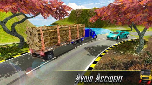 Future Cargo Loaded Truck Driver Logging Simulator apk screenshot