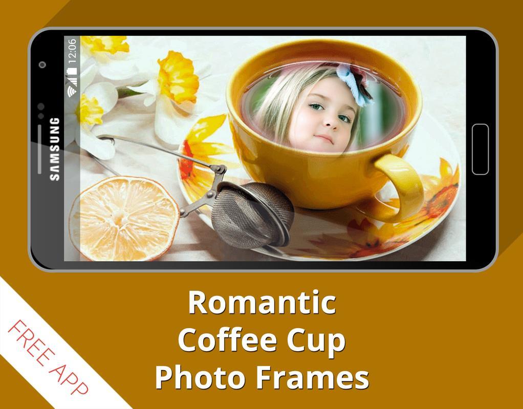 Coffee cup frames -  Romantic Coffee Cup Frames Apk Screenshot