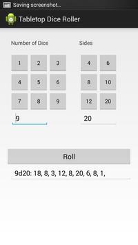 Tabletop Dice Roller screenshot 1