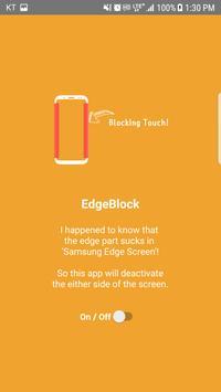 Edge Screen Block, Deactivate - Galaxy Edge Screen poster