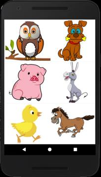 Animal sounds for children poster