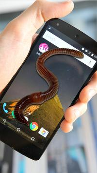 Worm Joke On  Screen Prank apk screenshot