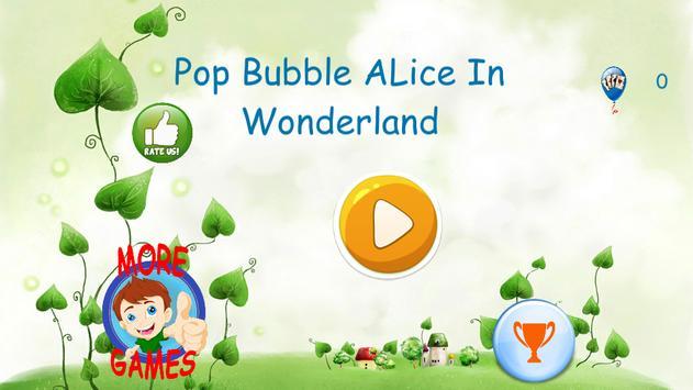 Pop Balloon Alice in Wonderland poster