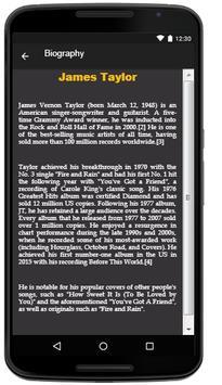 James Taylor Lyrics Music screenshot 2