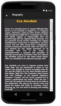 Eva Alordiah Lyrics Music screenshot 2