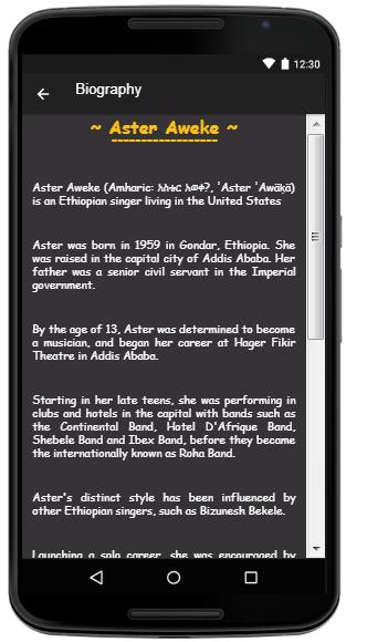 Aster Aweke Lyrics Music for Android - APK Download