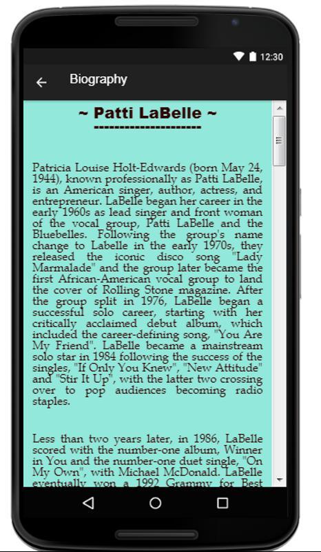 patti labelle new attitude mp3 download