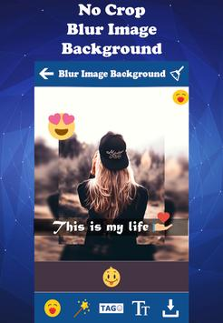 Blur Square Pic Editor : Art Filter-Emoji apk screenshot