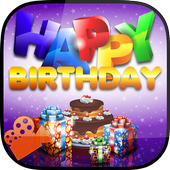 Happy Birthday Photo Video icon