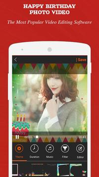 Happy Birthday Photo Video apk screenshot