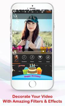 Happy Birthday Video Editor apk screenshot