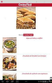 Cocina Fácil Móvil screenshot 4