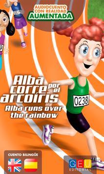 Alba corre por el arcoíris poster