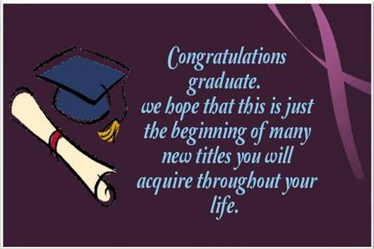 Graduation Wishes Card poster